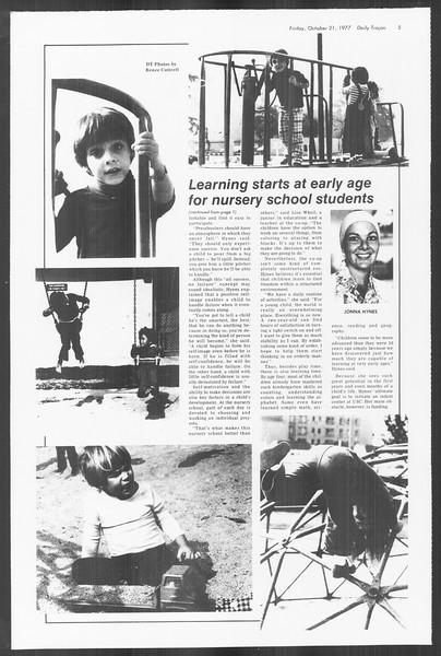 Daily Trojan, Vol. 72, No. 24, October 21, 1977