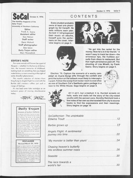 SoCal, Vol. 70, No. 11, October 04, 1976