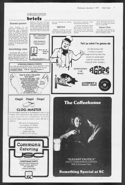 Daily Trojan, Vol. 72, No. 52, December 07, 1977