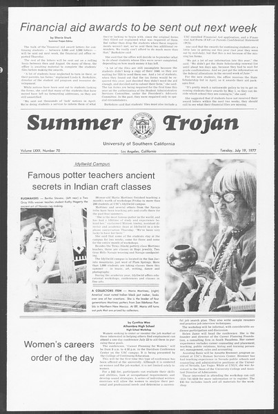 Summer Trojan, Vol. 72, No. 7, July 19, 1977