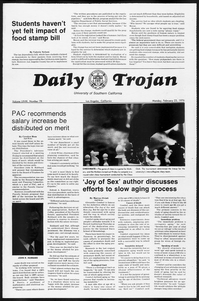 Daily Trojan, Vol. 68, No. 78, February 23, 1976