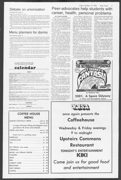 Daily Trojan, Vol. 70, No. 19, October 15, 1976