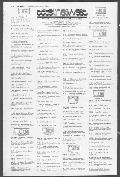 Daily Trojan, Vol. 68, No. 25, October 21, 1975