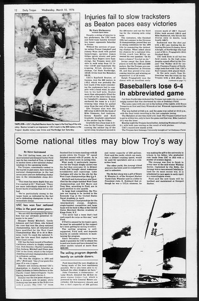 Daily Trojan, Vol. 68, No. 90, March 10, 1976