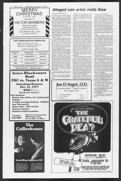 Daily Trojan, Vol. 72, No. 57, December 14, 1977