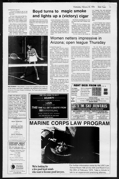 Daily Trojan, Vol. 68, No. 80, February 25, 1976
