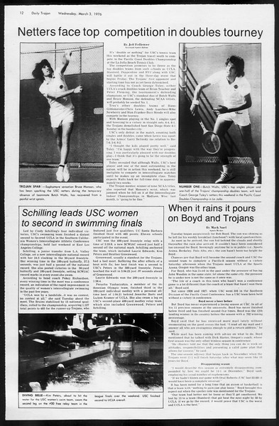 Daily Trojan, Vol. 68, No. 85, March 03, 1976