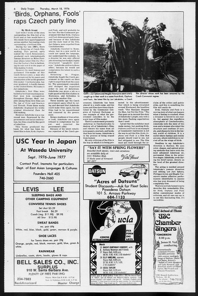 Daily Trojan, Vol. 68, No. 96, March 18, 1976
