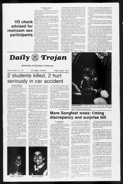 Daily Trojan, Vol. 68, No. 125, May 07, 1976