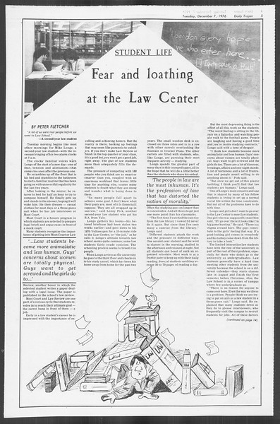 Daily Trojan, Vol. 70, No. 49, December 07, 1976