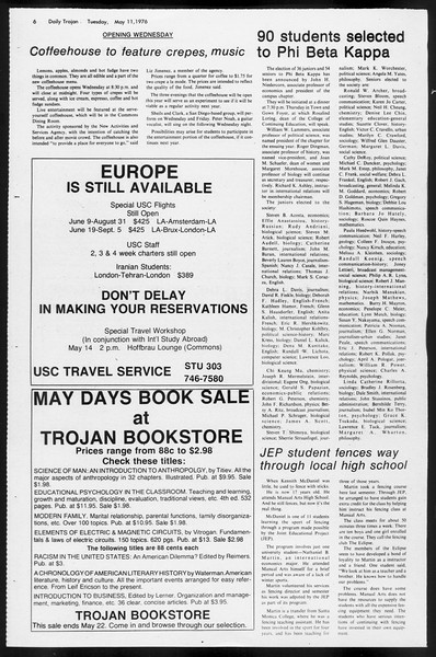 Daily Trojan, Vol. 68, No. 127, May 11, 1976