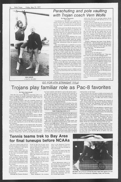 Daily Trojan, Vol. 71, No. 59, May 13, 1977