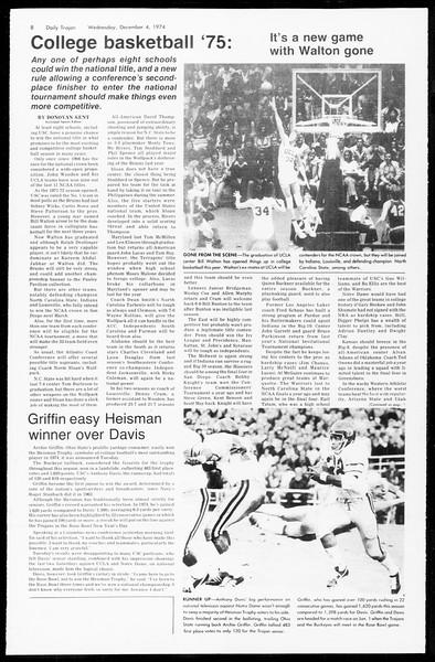 Daily Trojan, Vol. 67, No. 51, December 04, 1974