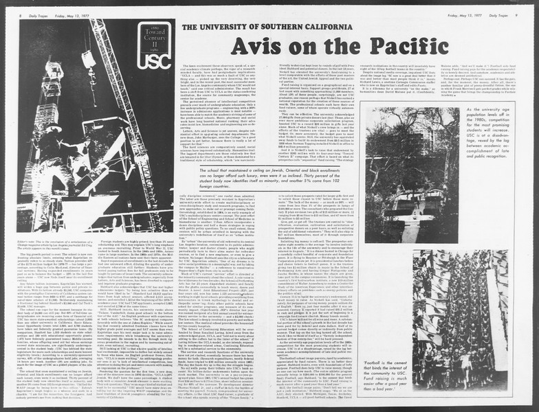Daily Trojan, Vol. 71, No. 59, May 13, 1977