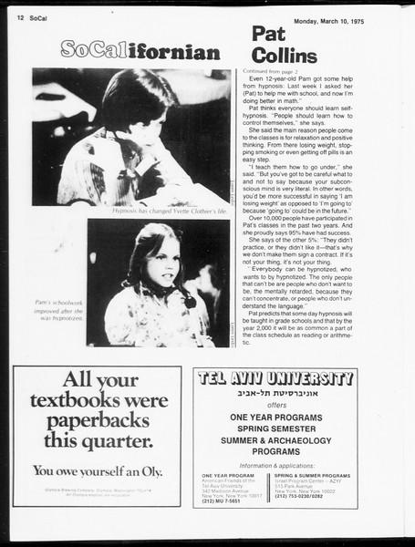 SoCal, Vol. 67, No. 88, March 10, 1975