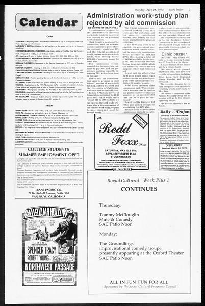 Daily Trojan, Vol. 67, No. 114, April 24, 1975