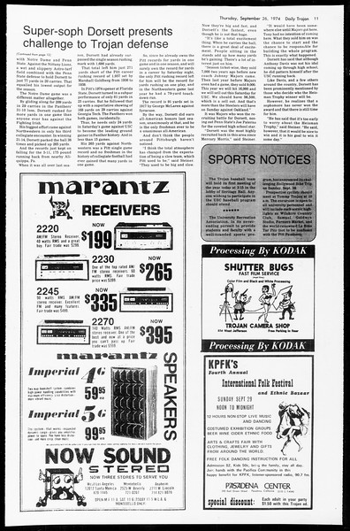 Daily Trojan, Vol. 67, No. 9, September 26, 1974
