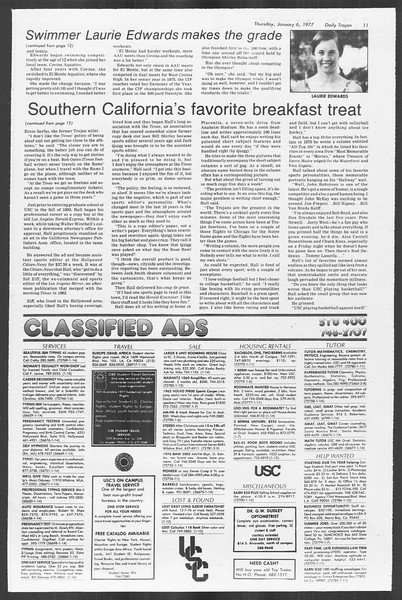 Daily Trojan, Vol. 70, No. 58, January 06, 1977