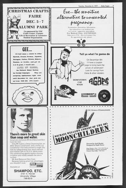 Daily Trojan, Vol. 72, No. 51, December 06, 1977