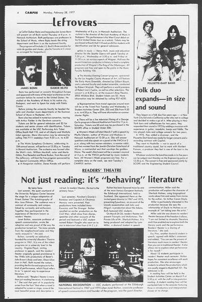 Daily Trojan, Vol. 71, No. 13, February 28, 1977