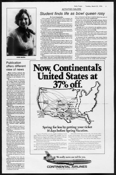 Daily Trojan, Vol. 68, No. 99, March 23, 1976
