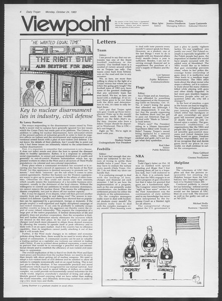 Daily Trojan, Vol. 94, No. 35, October 24, 1983