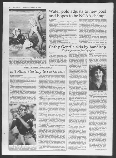 Daily Trojan, Vol. 94, No. 37, October 26, 1983