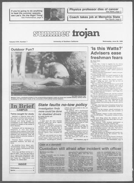 Summer Trojan, Vol. 109, No. 7, June 28, 1989