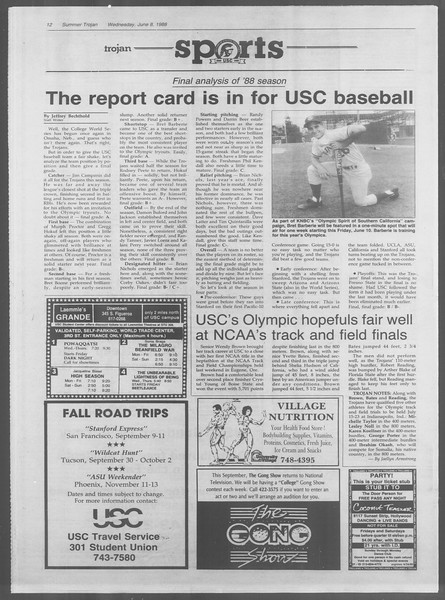 Summer Trojan, Vol. 107, No. 5, June 08, 1988