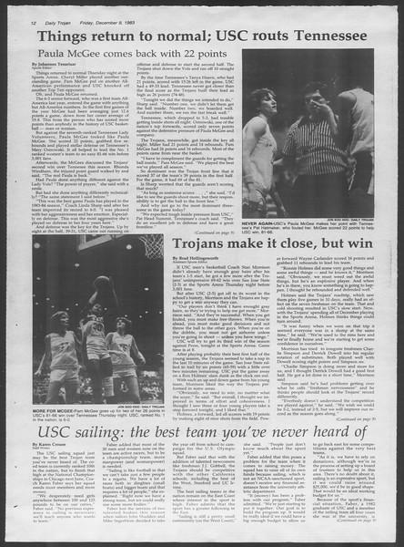 Daily Trojan, Vol. 94, No. 65, December 09, 1983