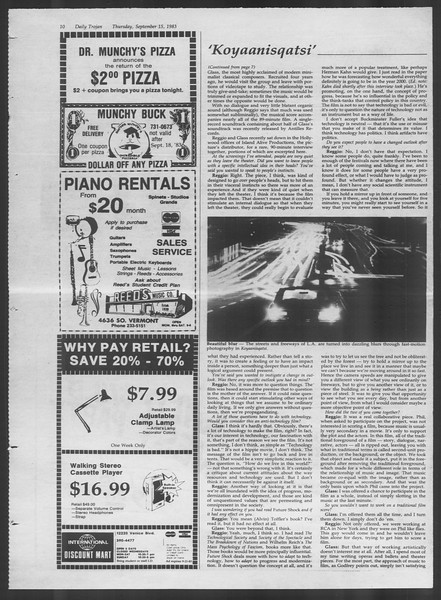 Daily Trojan, Vol. 94, No. 8, September 15, 1983
