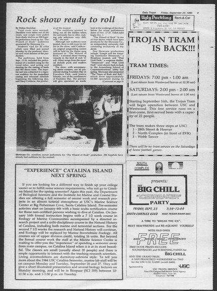 Daily Trojan, Vol. 94, No. 14, September 23, 1983
