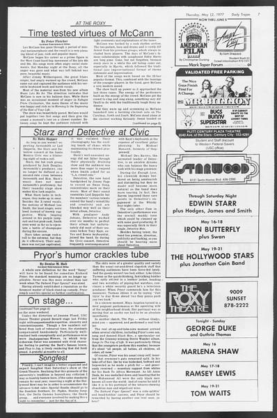 Daily Trojan, Vol. 71, No. 58, May 12, 1977