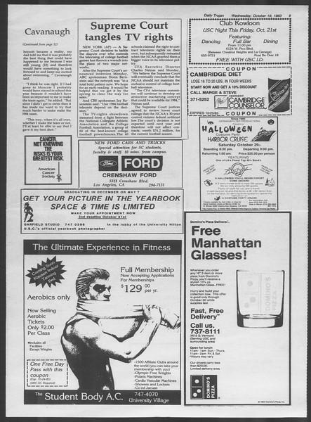 Daily Trojan, Vol. 94, No. 32, October 19, 1983
