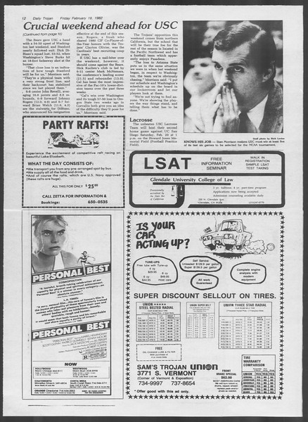 Daily Trojan, Vol. 91, No. 26, February 19, 1982