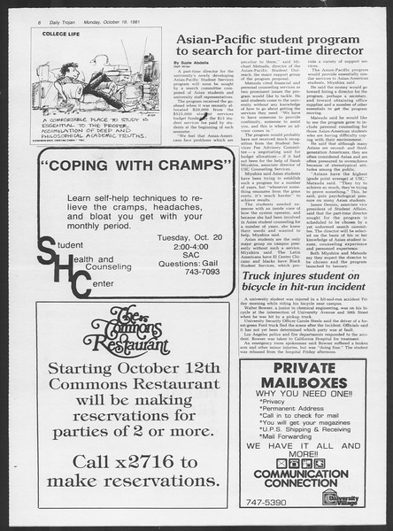 Daily Trojan, Vol. 91, No. 33, October 19, 1981
