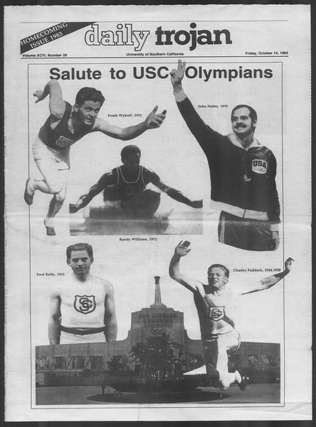 Daily Trojan, Vol. 94, No. 29, October 14, 1983