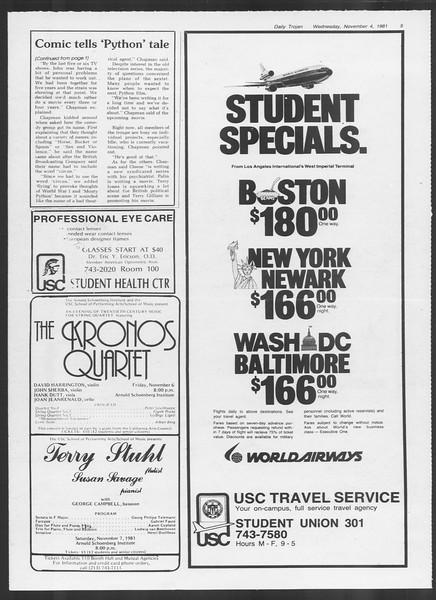 Daily Trojan, Vol. 91, No. 45, November 04, 1981