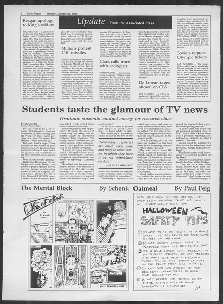 Daily Trojan, Vol. 94, No. 35, October 24, 1983