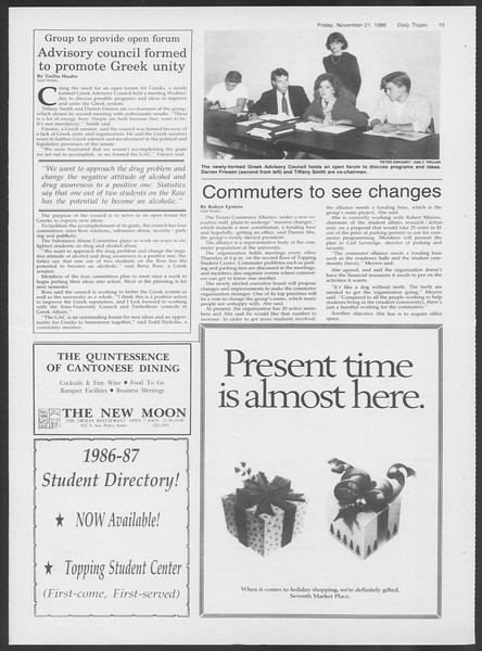 Daily Trojan, Vol. 102, No. 58, November 21, 1986