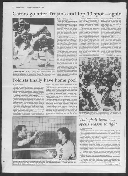 Daily Trojan, Vol. 94, No. 4, September 09, 1983