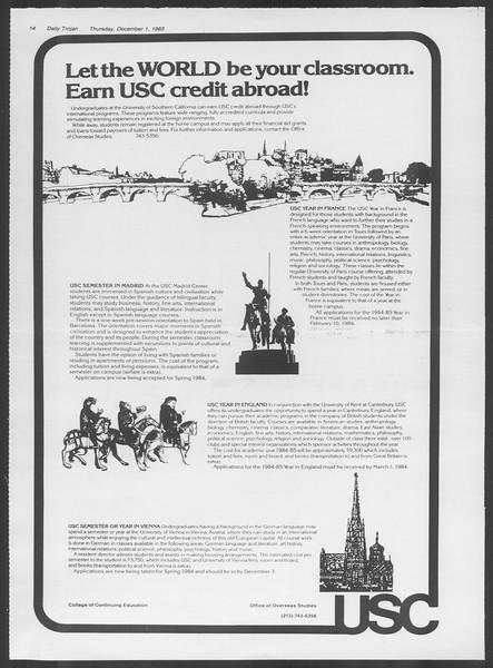 Daily Trojan, Vol. 94, No. 59, December 01, 1983