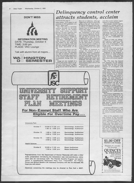 Daily Trojan, Vol. 94, No. 22, October 05, 1983