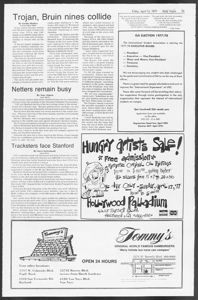Daily Trojan, Vol. 71, No. 40, April 15, 1977