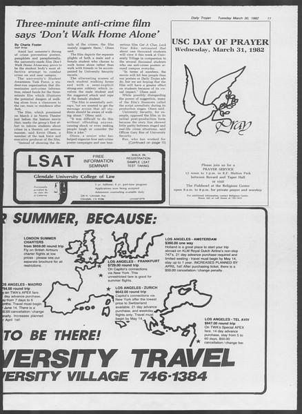 Daily Trojan, Vol. 91, No. 53, March 30, 1982