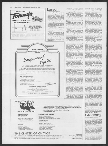 Daily Trojan, Vol. 102, No. 41, October 29, 1986