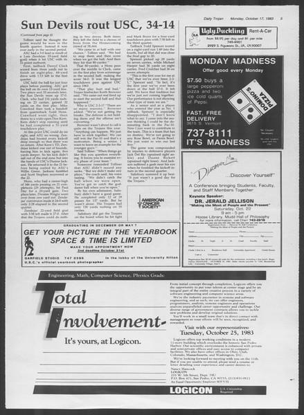 Daily Trojan, Vol. 94, No. 30, October 17, 1983