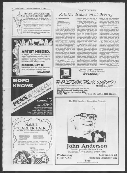 Daily Trojan, Vol. 94, No. 52, November 17, 1983