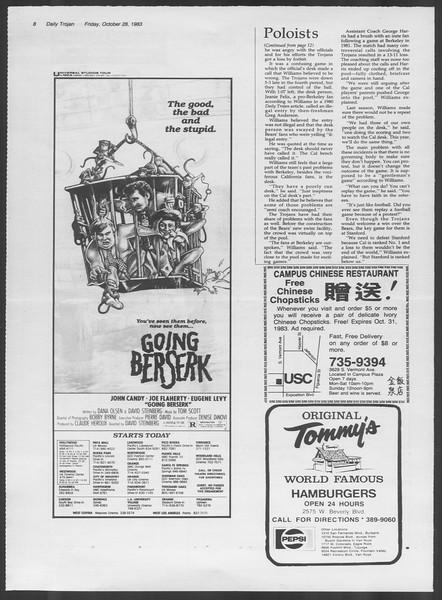 Daily Trojan, Vol. 94, No. 39, October 28, 1983