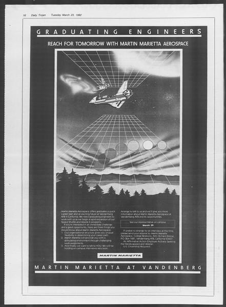 Daily Trojan, Vol. 91, No. 48, March 23, 1982